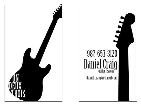 Business Cards Daniel Craigs Guitar Zazzle Business Cards Musician Business Card Business Card Musician