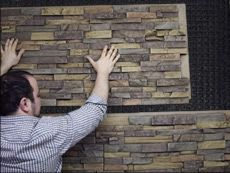 Site to purchase faux rock, brick or wood interior/exterior paneling ...