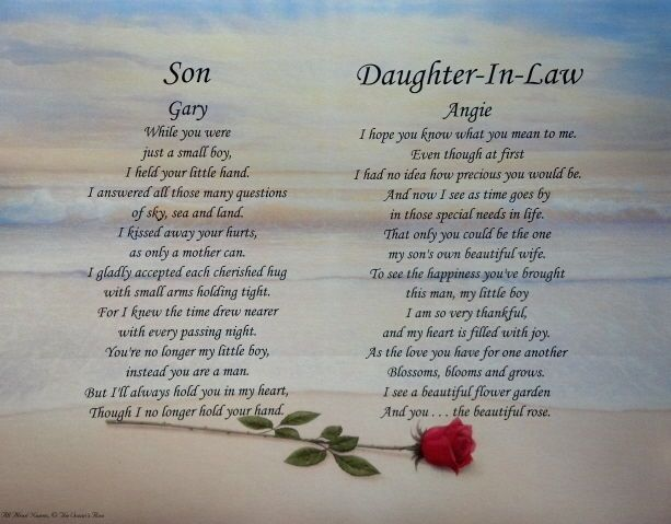 Daughter Son In Law Personalized Poem Christmas Gift: New Daughter In Law Poem - Google Search