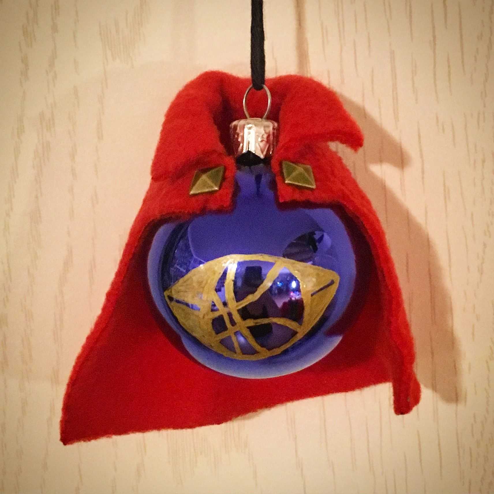 Doctor Strange, Stephen Strange, Christmas, Ornament, Handmade, Bauble, Fanmade, Marvel,