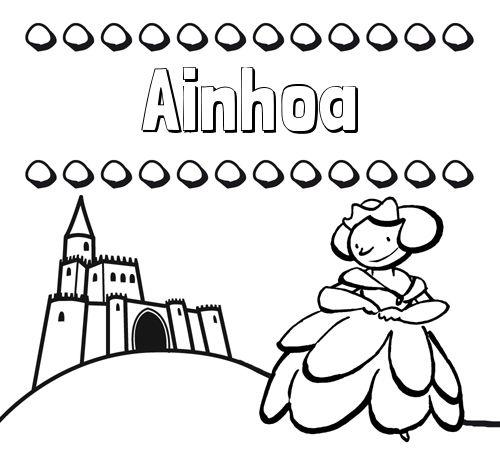 Dibujos para colorear su nombre y una princesa   color   Pinterest