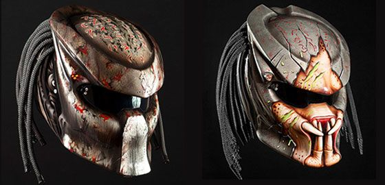 extremely cool predator motorcycle helmet by nitrinos. Black Bedroom Furniture Sets. Home Design Ideas