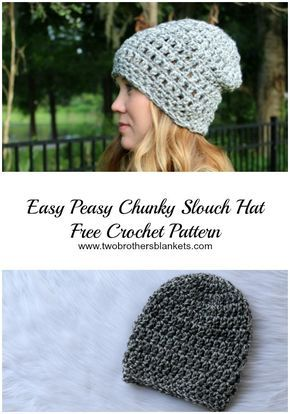 Easy Peasy Chunky Slouch Free Crochet Pattern