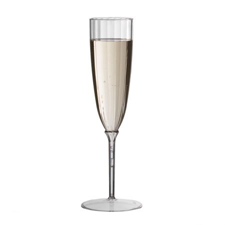 Smartyware Disposable Plastic Champagne Flutes