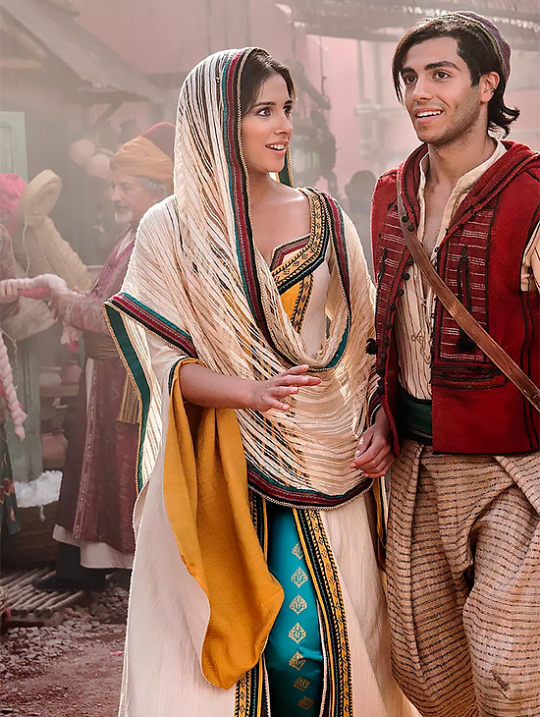 First look of Naomi Scott as Princess Jasmine and Mena Massoud as Aladdin in Guy Ritchie's Aladdin (2019)