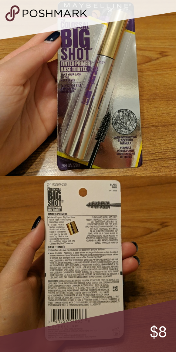 f9f89f90bc7 Maybelline Colossal Big Shot Tinted Primer #230 Goes great with the Big  Shot mascara! New and never opened! Maybelline Makeup Mascara