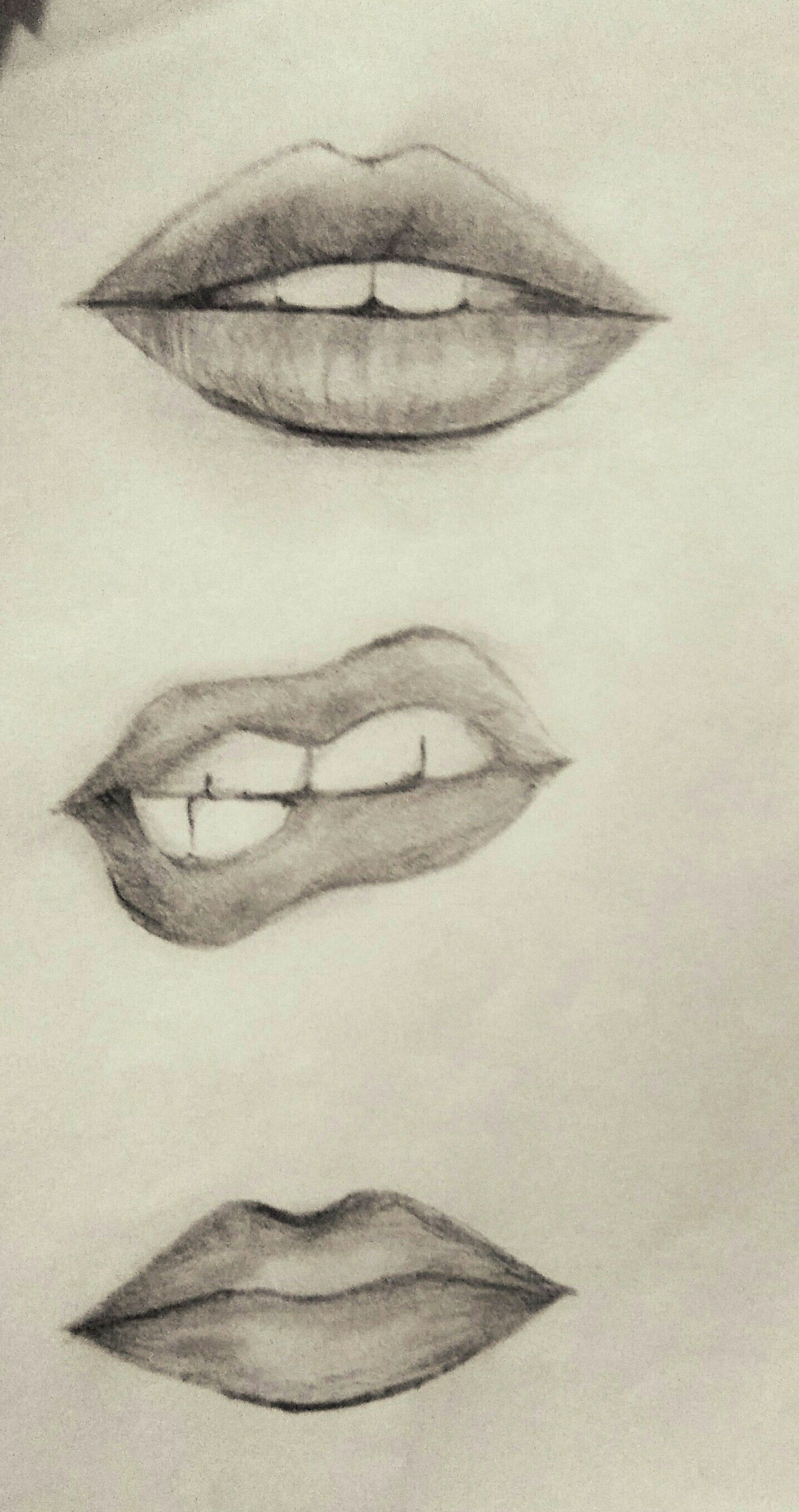 Pin By Says She On Easy Lip Sketching Sketches Pencil Drawings