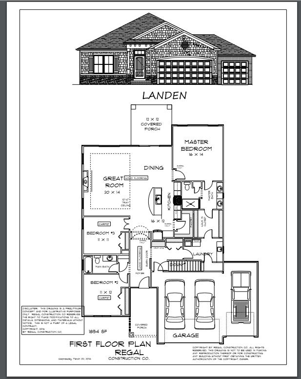 The Landen Floor Plan Available For Glendale Village Off