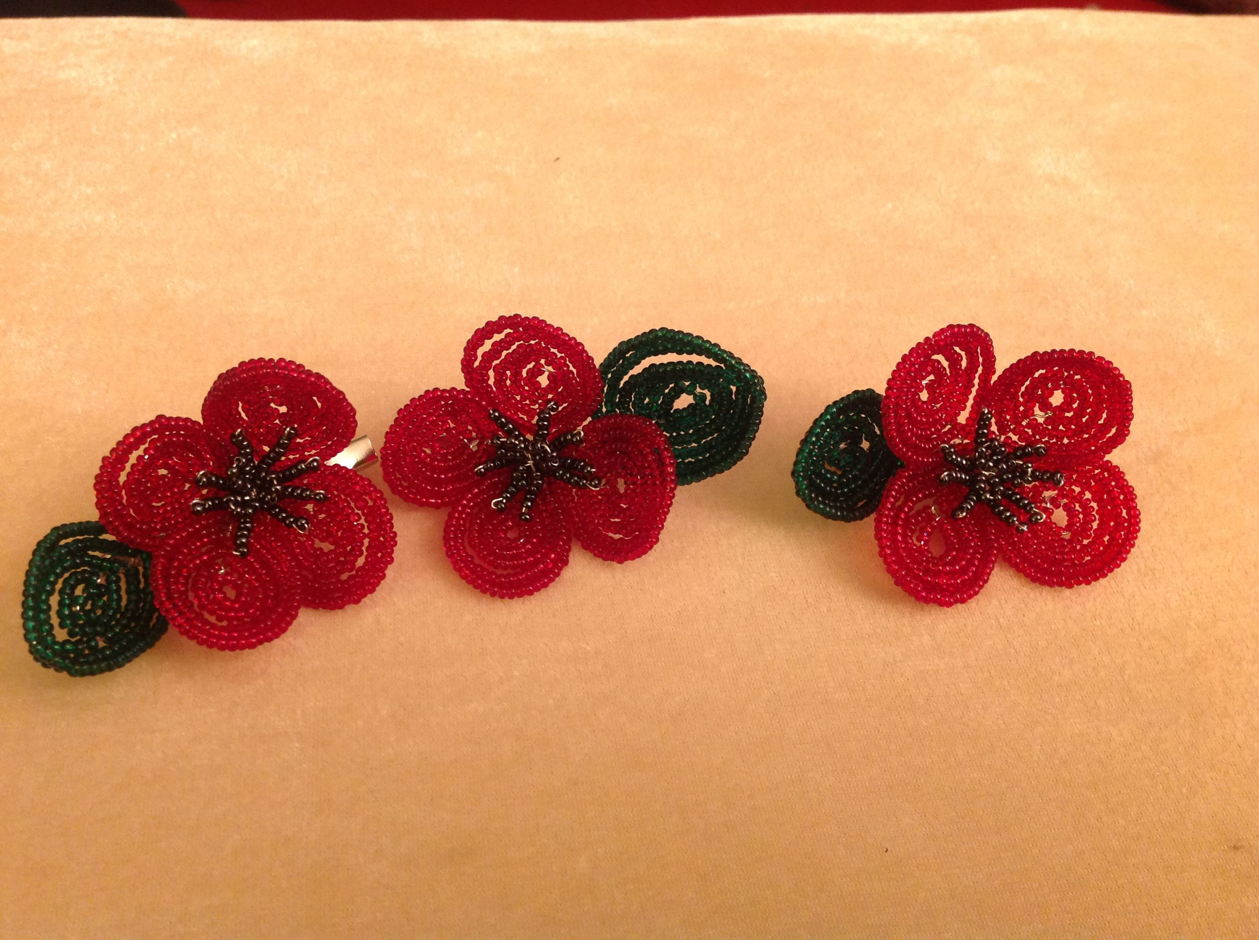 My first go at French Beading. I will make some more to sell to support the poppy appeal.