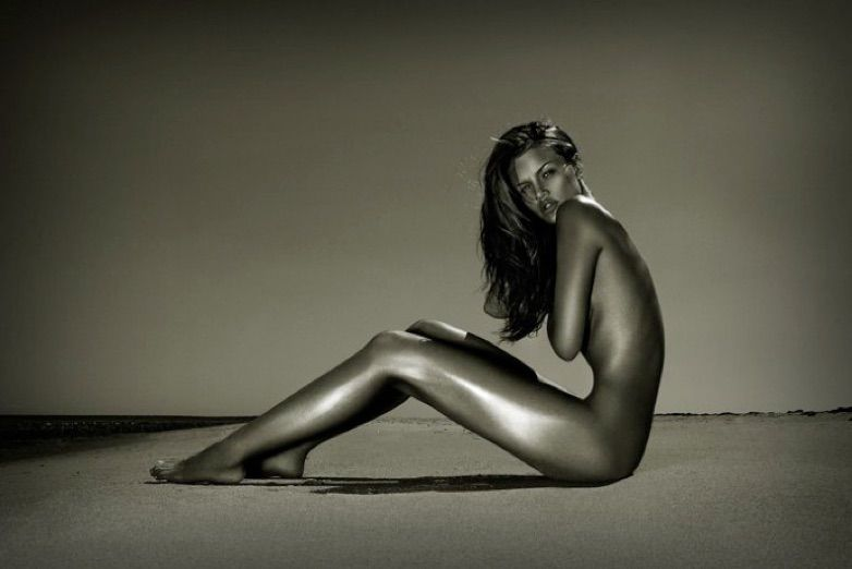 Fine art nude photography girl think