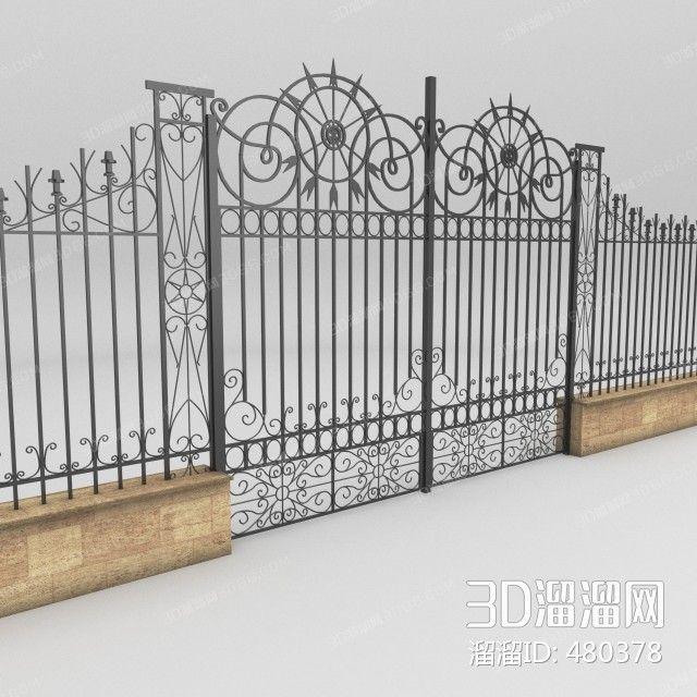 3D Model Gate Free Download | Scenes | 3d architecture, Architecture