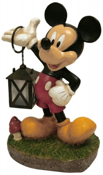 Mickey Mouse Solar Powered Garden Statue Disneygarden