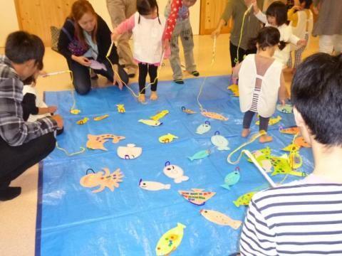 手作りのお魚で魚釣り 幼稚園のアクティビティ お祭り ゲーム 魚釣り