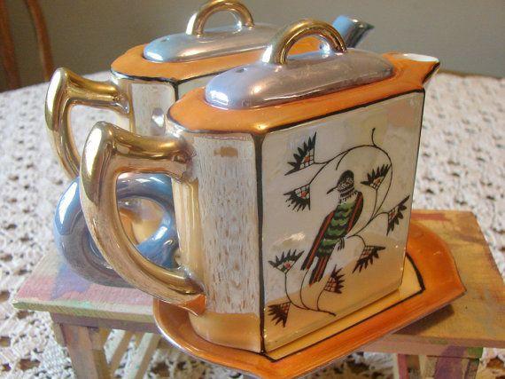 Hotta Yu Shoten Tea Set  Lusterware Tea Pot and by PEAKaBooVintage, $73.00