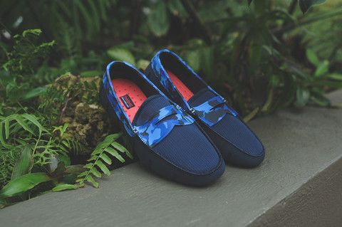 Swims Penny Loafer - Navy Camo | Kith NYC