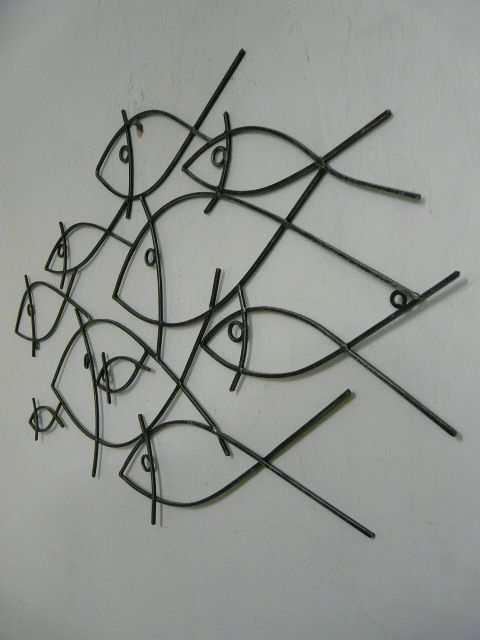 Abstract School of Fish Metal Wall Art Decor - I think it fits in ...
