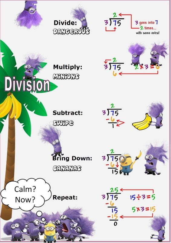 Long Division With Evil Minions  Adjectives    Evil