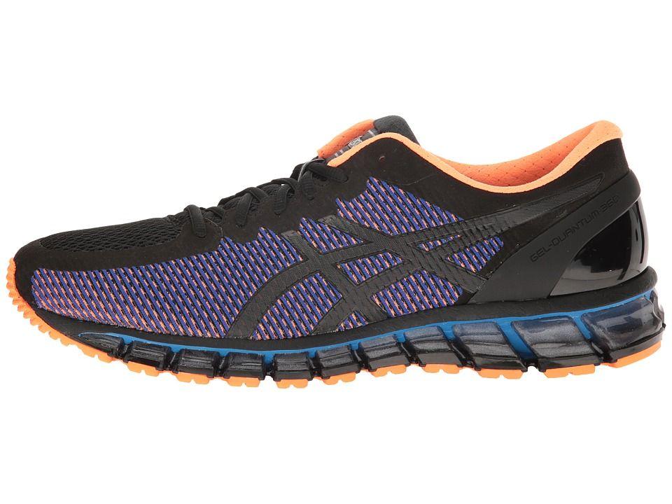5edf40c0e224 ASICS Gel-Quantum 360 CM Men s Running Shoes Black Onyx Hot Orange ...