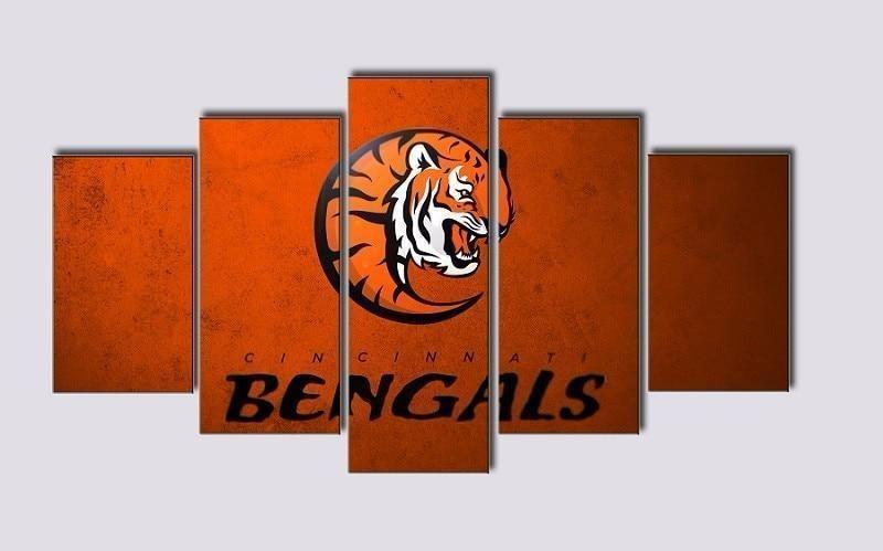 Cincinnati Bengals Logo Poster Football Canvas Wall Art Football Canvas Canvas Wall Art Wall Art