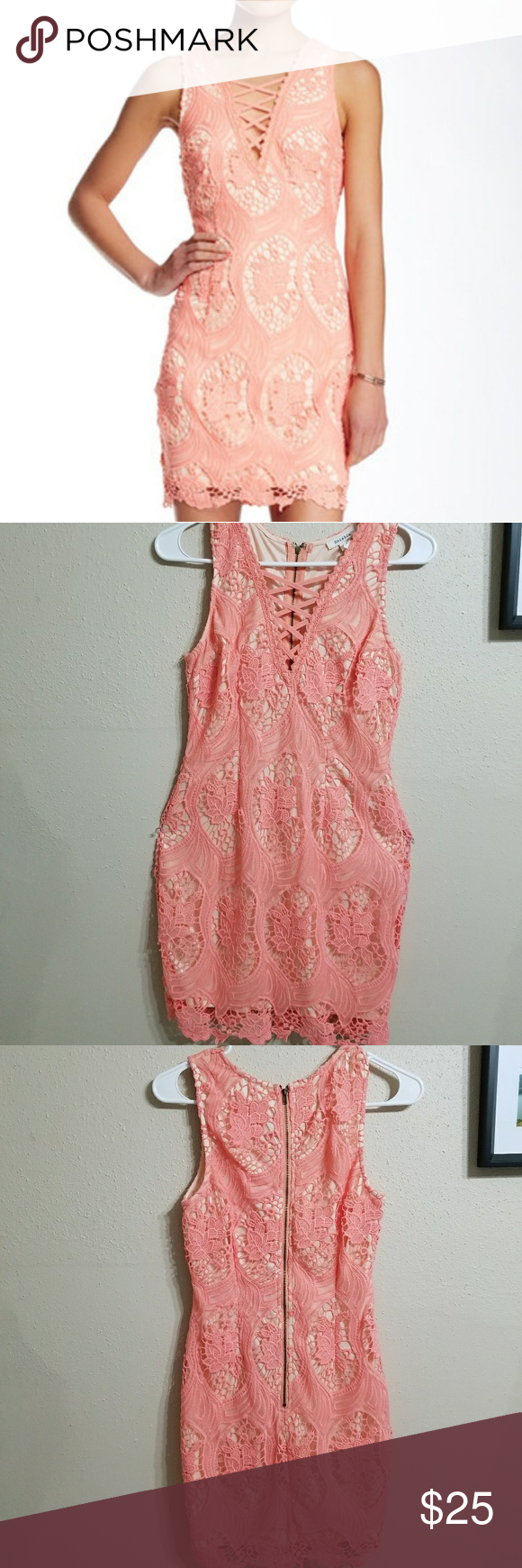 Nordstrom Soièblu Pink Lace Dress