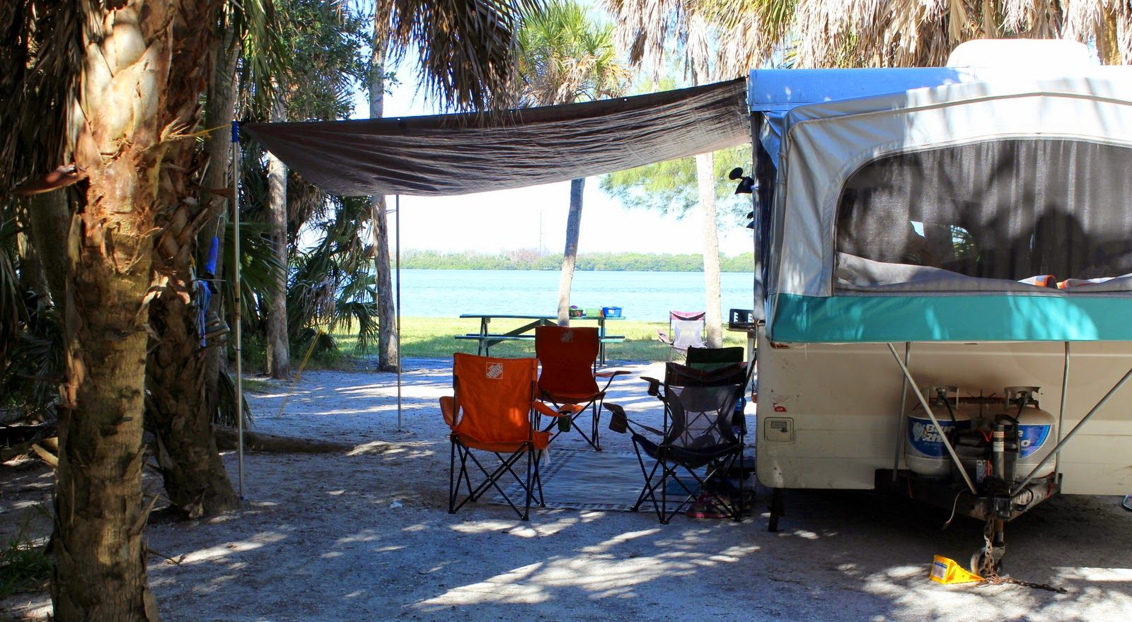 DIY inexpensive Pop Up camper awning | Camping | Pinterest ...