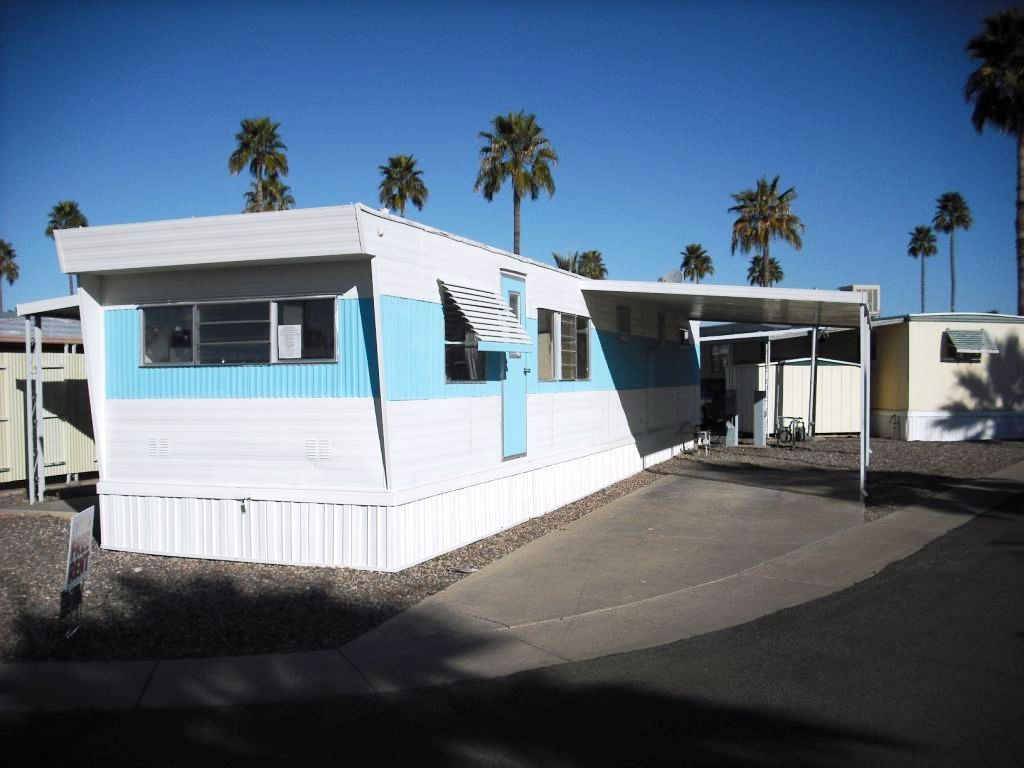 Retro Mobile Homes For Sale 10 X 55 1 Bedroom 1 Bathroom Lot Rent 460 Per Month Mobile Home Trailer Home Home Pictures