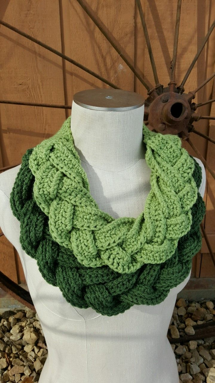 Double Braided Cowl | chales | Pinterest | Crochet, Cowl scarf and ...