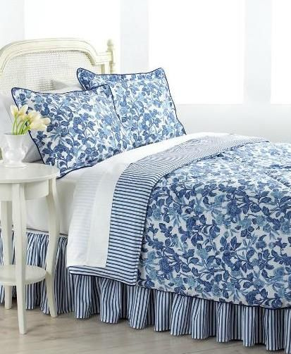Ralph Lauren bedding | Blue and white bedding, Blue bedroom
