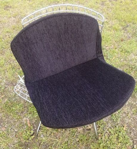 new knoll style bertoia side chair full cushion cover fabric more