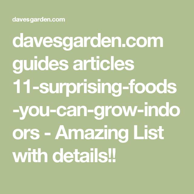 Davesgarden Com Guides Articles 11 Surprising Foods You 400 x 300