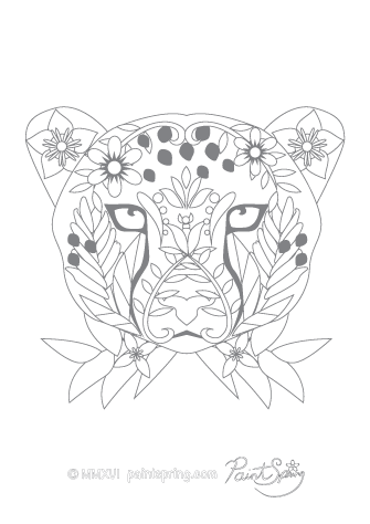 Wild Animal Coloring Pages Cheetah Coloring Page And Kids Activity Sheet Honkingd Coloring Pictures Of Animals Animal Coloring Pages Animal Coloring Books