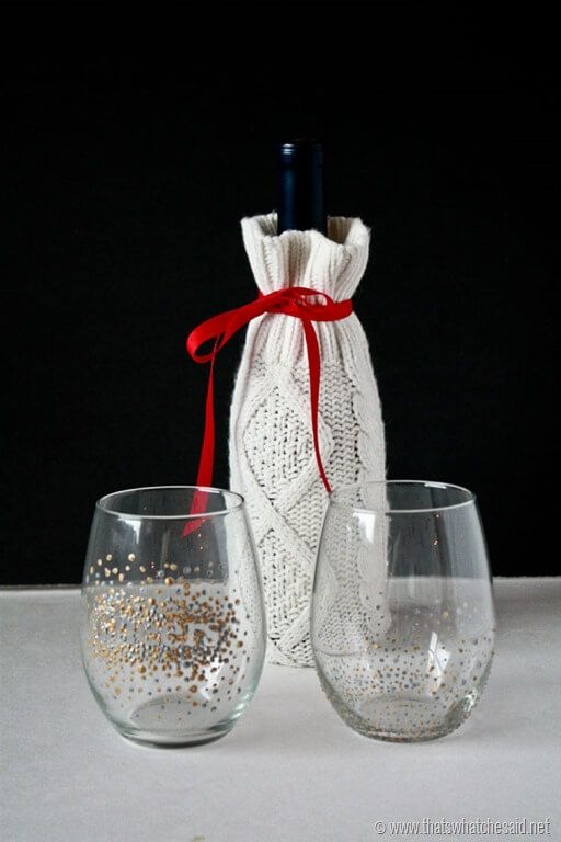 DIY Dot Wine Glasses 9