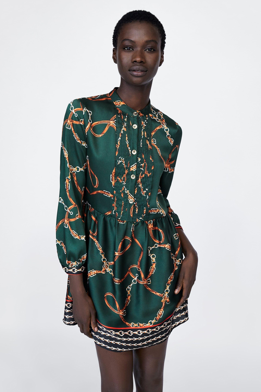 Image 2 De Robe Imprimee De Chaines De Zara Fallter Oct Nov