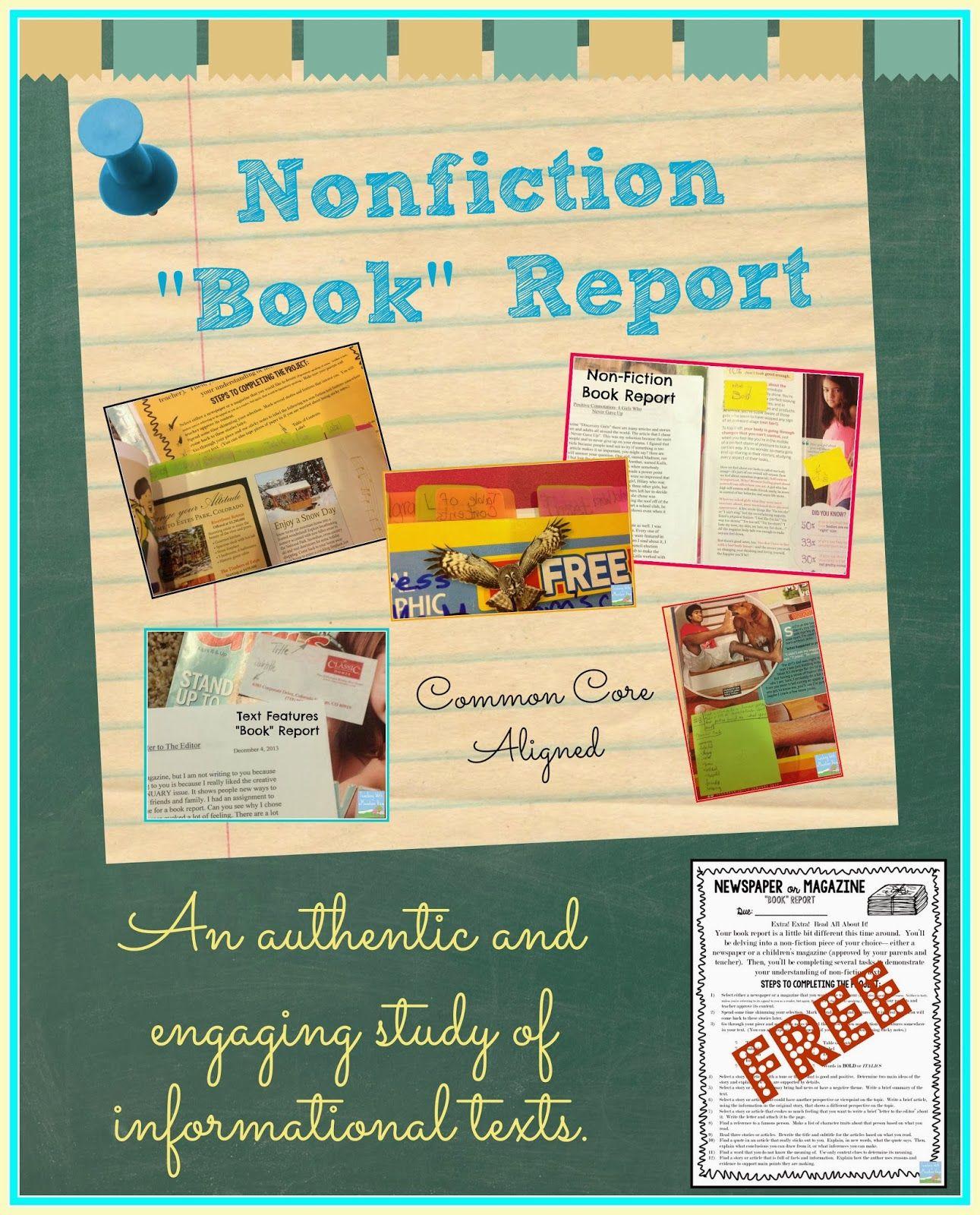 Non Fiction Newspaper Or Magazine Book Report
