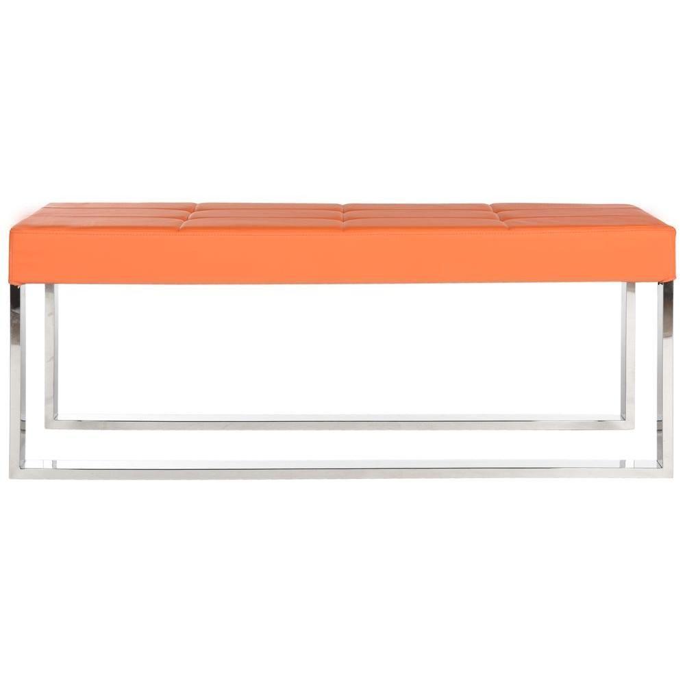 Safavieh Mark Orange Bench Upholstered Bench Bench Upholstered