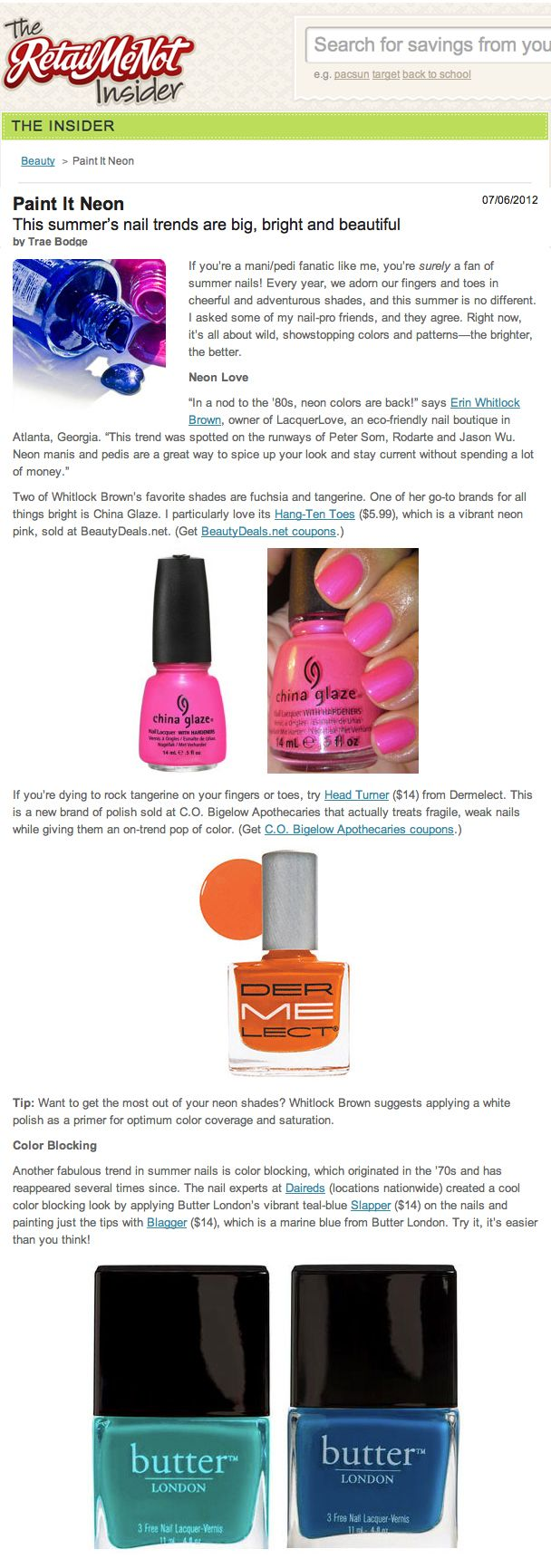 If you\'re dying to rock tangerine on your fingers or toes, try Head ...