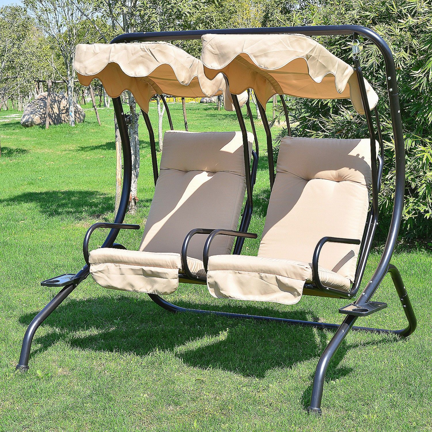 Outdoor Patio Swing Dimensions 1 8 X 1 5 X 2 M This Outdoor Swing