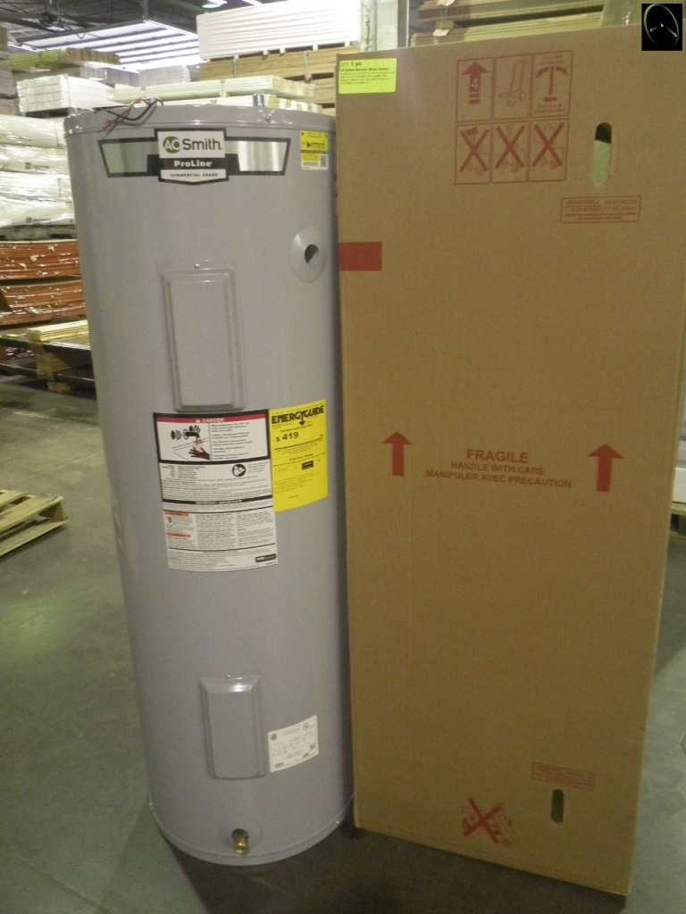 Item 1 50 Gallon Electric Water Heater By Ao Smith 240 Volt 63 25 Tall 20 5 Around New Grade Vinyl Fence Panels Electric Water Heater Locker Storage