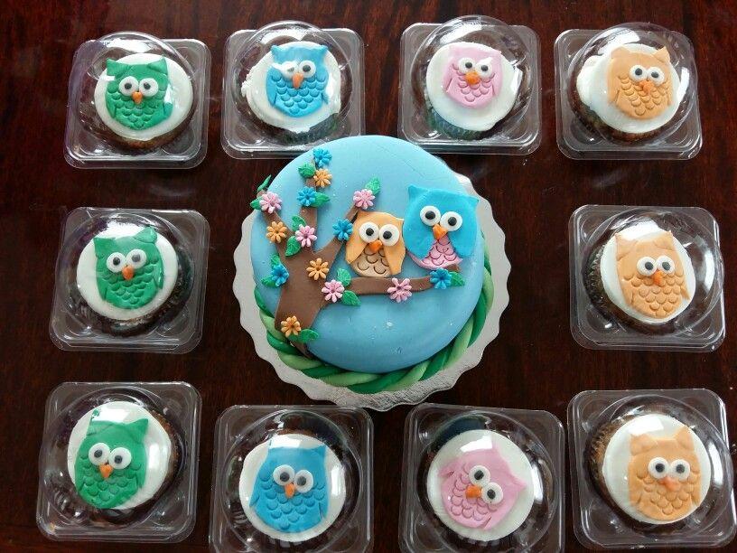 Búho cupcakes & cake