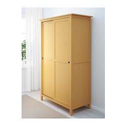Good HEMNES Kleiderschrank mit Schiebet ren gelb x cm IKEA
