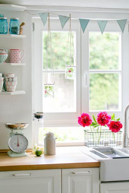 Blumendeko in der Küche | basteln | Pinterest | Blumendeko, Deko ...
