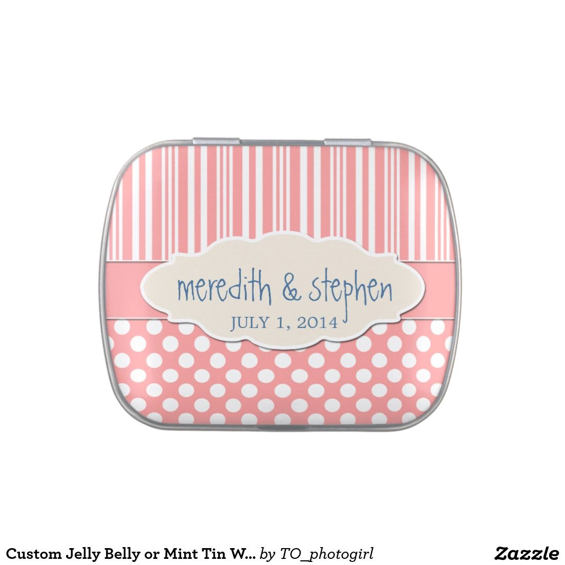 Custom Jelly Belly or Mint Tin Wedding Favor Candy Tins | Mint tins ...