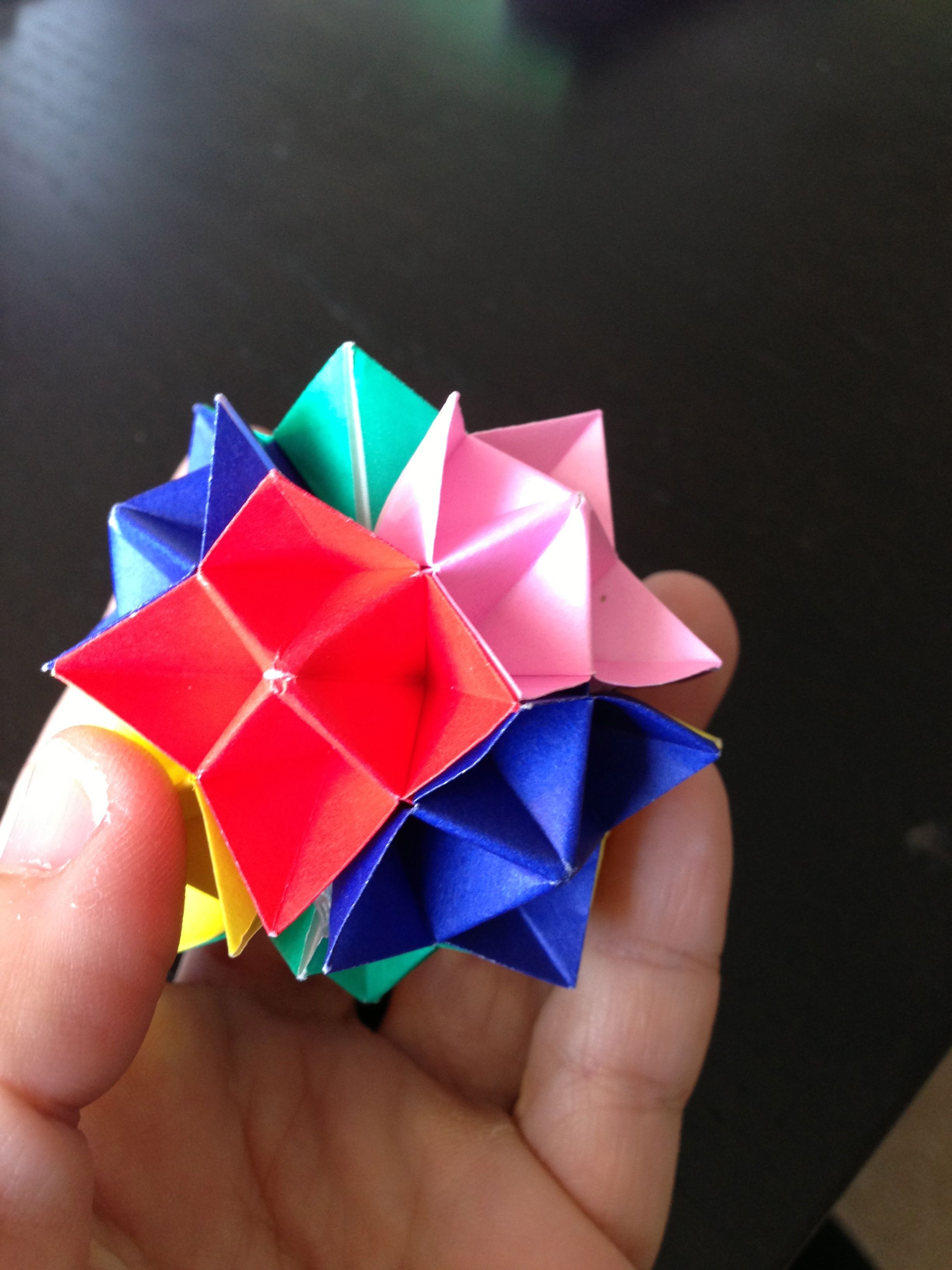 Origami spike ball origami craft and oragami origami spike ball jeuxipadfo Choice Image