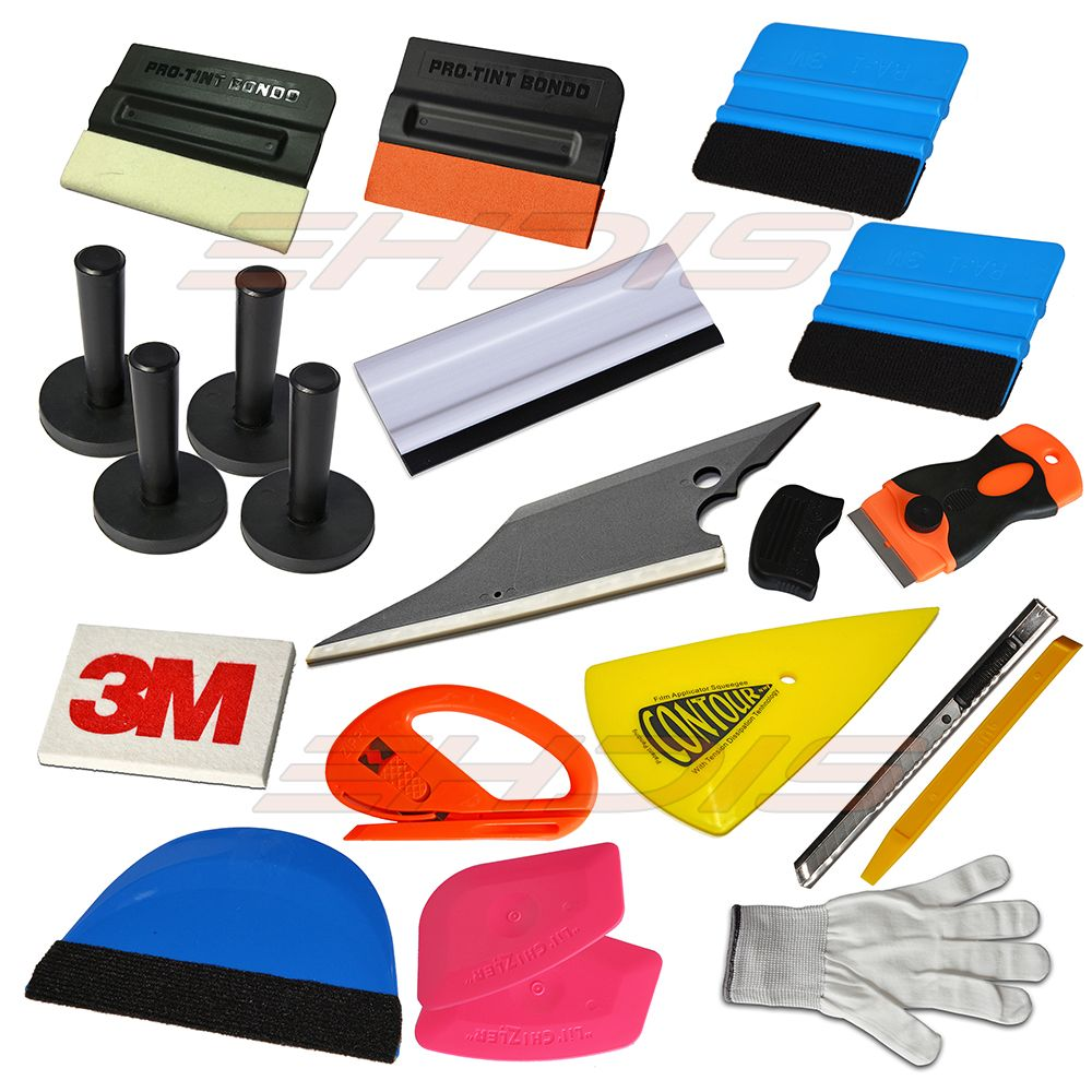 Window Tint Tools Kit Magnetic Felt Scraper 3m Wool Squeegee Vinyl