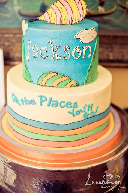 Oh The Places Youll Go Dr Seuss Cake Charlotte NC By Lunahzon Via Flickr What A Cute Birthday Theme Idea