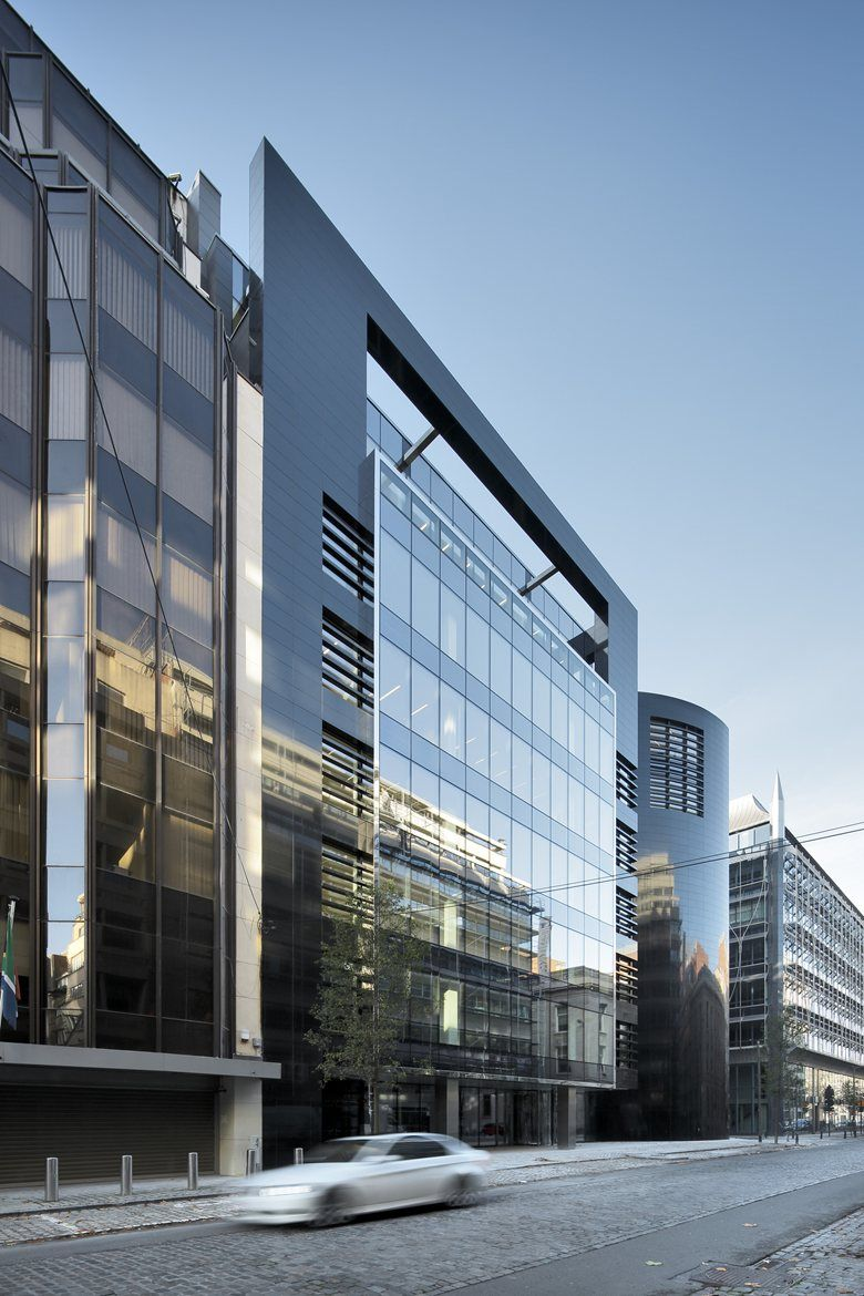 Modern Architecture Office black pearl office building, brussels, 2014 - art & build