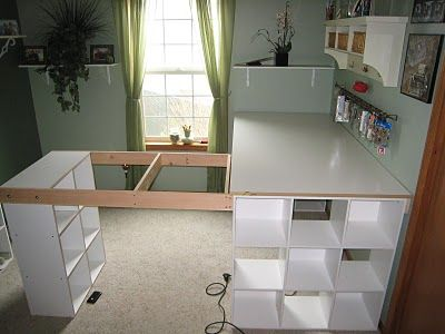 Do it yourself white craft desk how to build a custom craft desk do it yourself white craft desk how to build a custom craft desk solutioingenieria Images