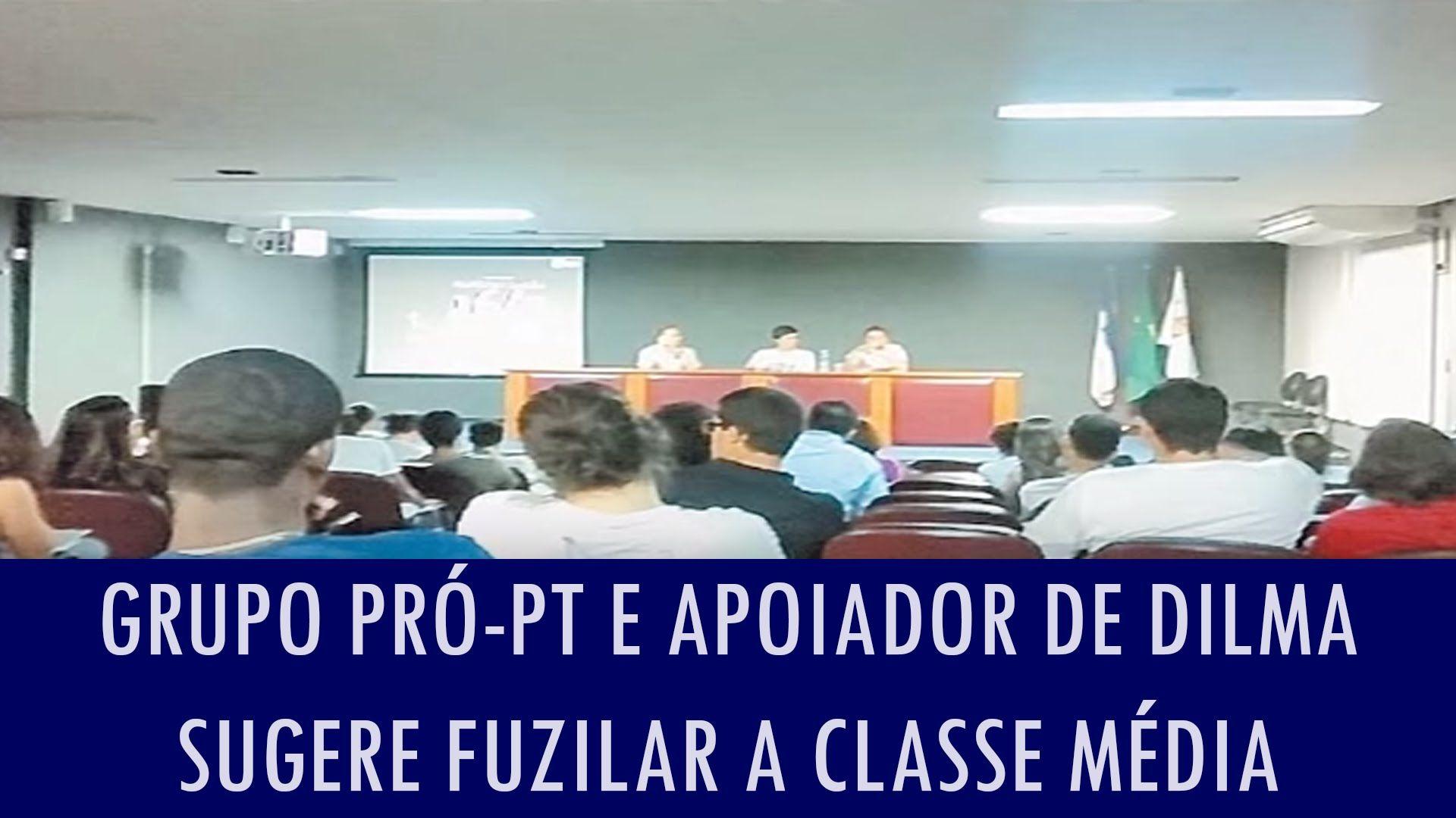 Grupo pró-PT e apoiador de Dilma sugere fuzilar a classe média