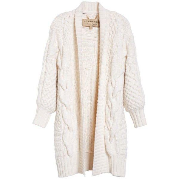 Women's Burberry Camrosbrook Wool & Cashmere Open Cardigan ($1,395 ...