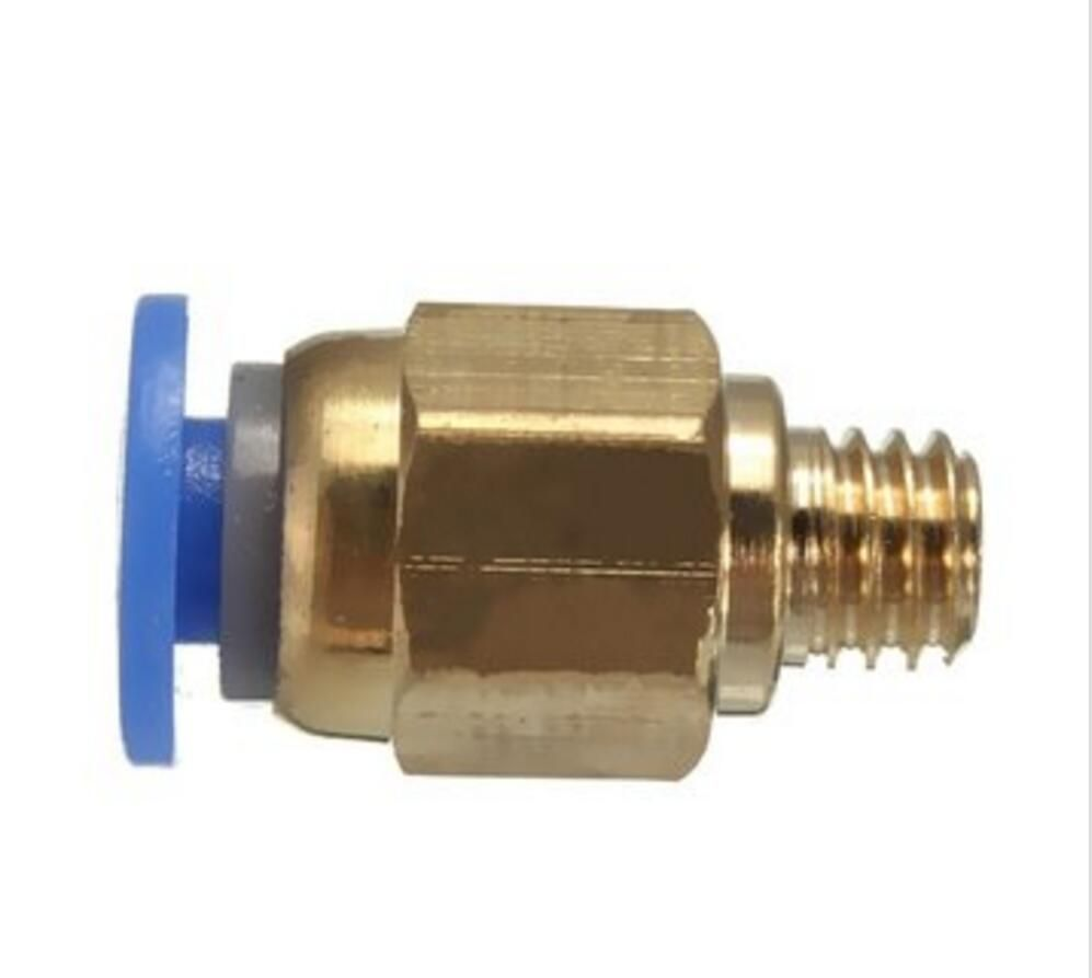 PC4-M6 Pneumatic Straight Connector Brass Part For MK8 OD 4mm 2mm Tube Filament
